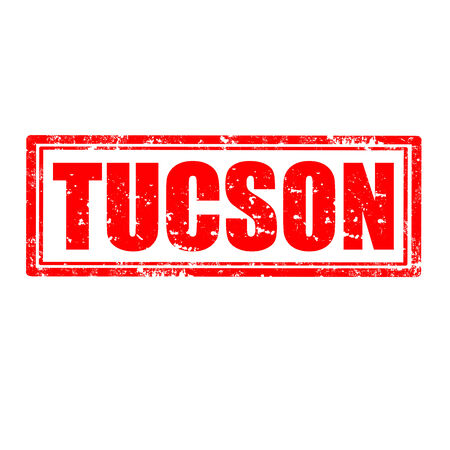 Grunge rubber stamp with word Tucson,vector illustration Vector
