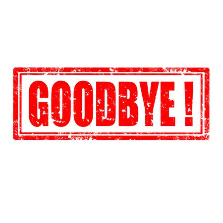 addio: Grunge timbro di gomma con la parola addio, illustrazione vettoriale