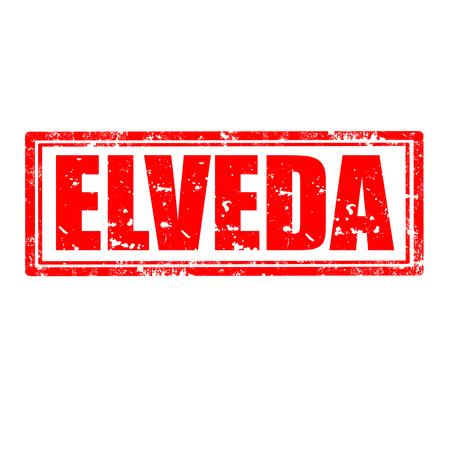 addio: Grunge timbro di gomma con la parola Addio Elveda, in lingua turca, illustrazione vettoriale Vettoriali