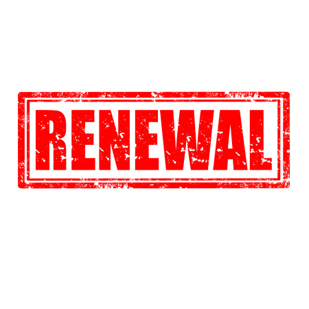 renewal: Grunge rubber stamp with word Renewal,vector illustration
