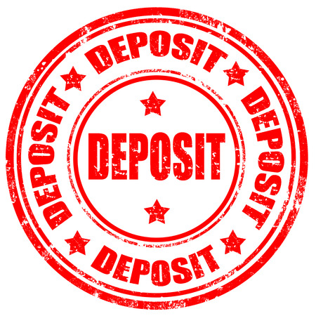 Grunge rubber stamp with word Deposit,vector illustration