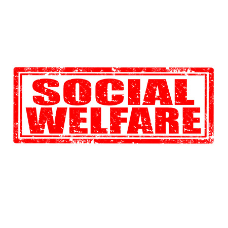 welfare: Grunge rubber stamp with text Social Welfare,vector illustration