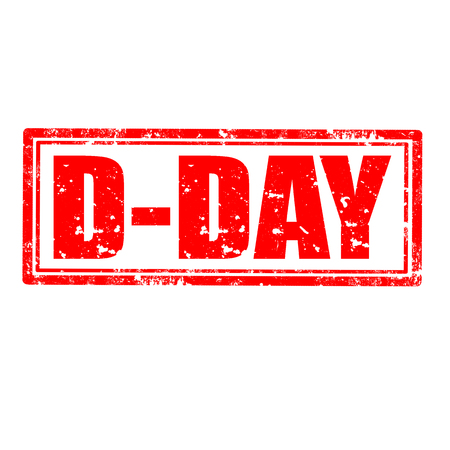 d: Grunge rubber stamp with text D-Day,vector illustration