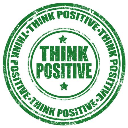 Grunge rubber stempel met tekst Think Positive, vector illustratie