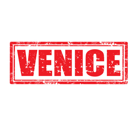 Grunge rubber stamp with word Venice,vector illustration Vector