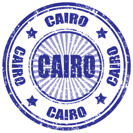 Grunge rubber stamp with word Cairo,vector illustration Vector
