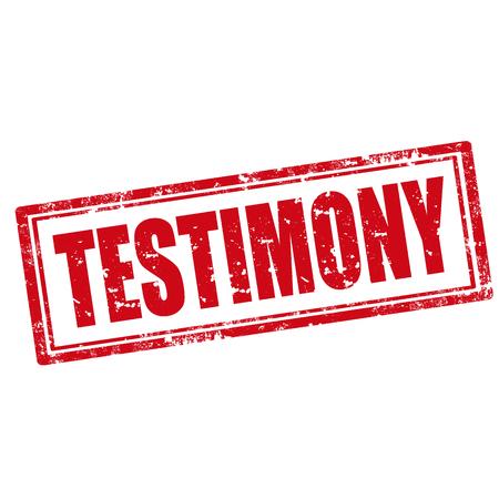 testimony: Grunge rubber stamp with word Testimony,vector illustration Illustration