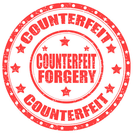 counterfeit: Grunge rubber stamp with word Counterfeit,vector illustration