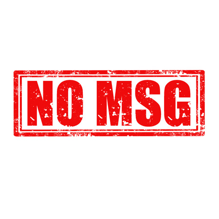 monosodium glutamate: Grunge rubber stamp with text No MSG,vector illustration