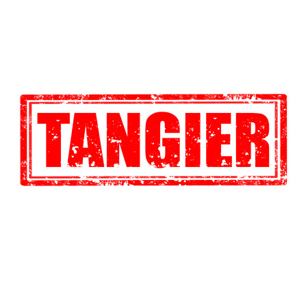 tangier: Grunge rubber stamp with word Tangier,vector illustration