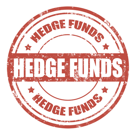 funds: Grunge rubber stamp with text Hedge Funds,vector illustration