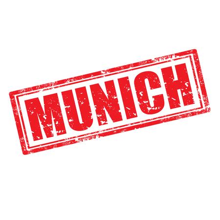 m�nchen: Grunge rubber stempel met de naam van München de hoofdstad van Beieren uit Duitsland, vector illustratie