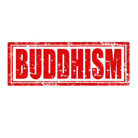 Grunge rubber stamp with word Buddhism,vector illustration
