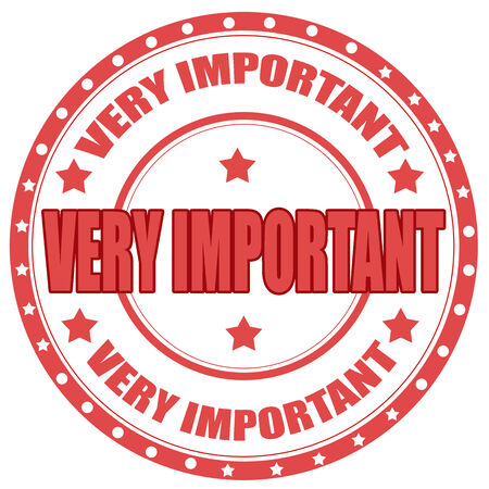 Label with text Very Important,vector illustration