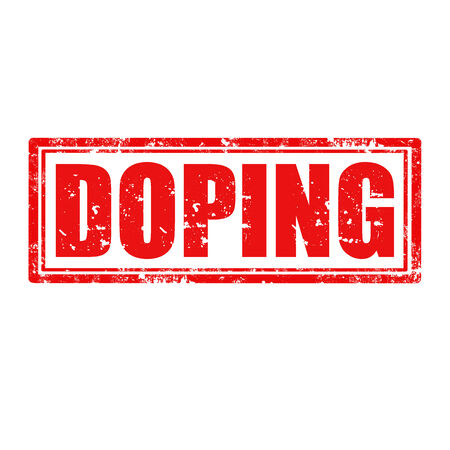 narcótico: Carimbo de borracha de Grunge com palavra Doping, ilustração vetorial Ilustração