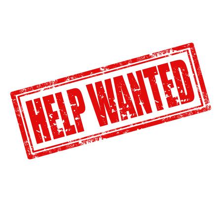 help wanted sign: Grunge sello de goma con el texto Help Wanted Vectores