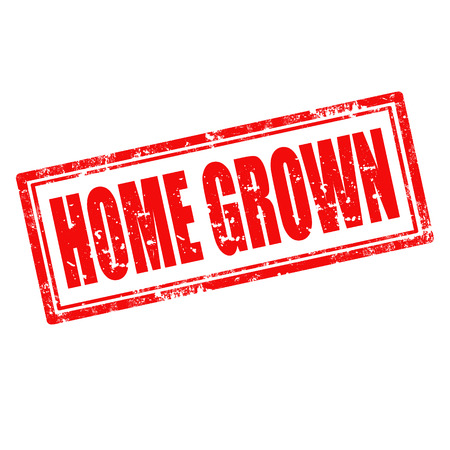 home grown: Grunge rubber stamp with text Home Grown Illustration