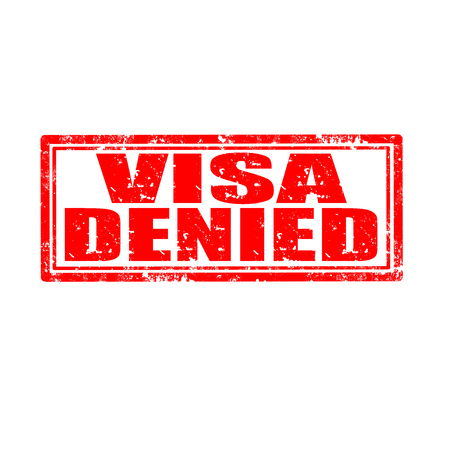 Grunge rubber stamp with text Visa Denied Stock Vector - 23765654