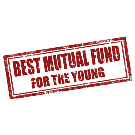 mutual fund: Grunge rubber stamp with text Best Mutual Fund For The Young