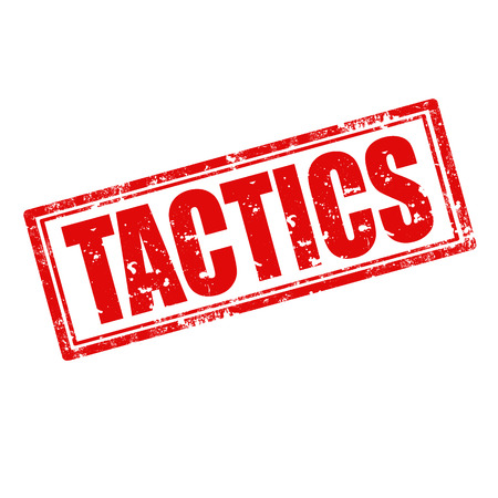 tactics: Grunge rubber stamp with word Tactics