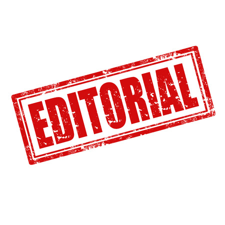 journalistic: Grunge timbro di gomma con la parola Editoriale