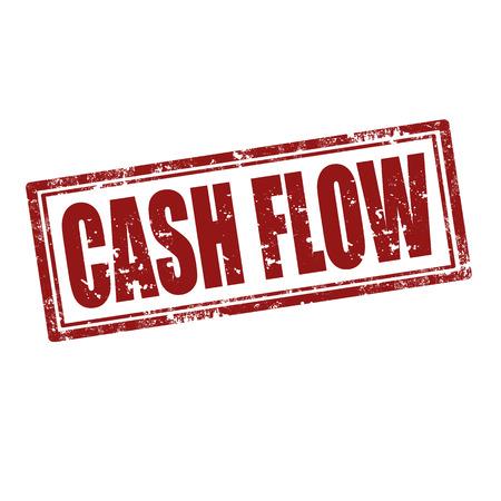Grunge rubber stempel met tekst Cash Flow, vectorillustratie