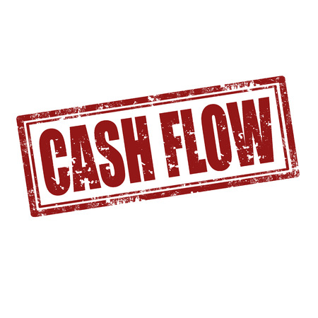 Grunge rubber stamp with text Cash Flow,vector illustration Vettoriali