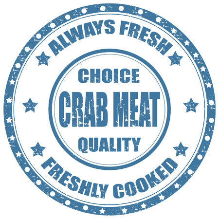 crab meat: Grunge rubber stamp with text Crab Meat,vector illustration