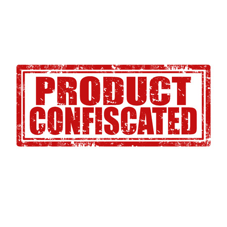 debtor: Grunge rubber stamp with text Product Confiscated,vector illustration
