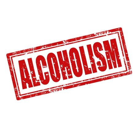 alcoholismo: Grunge sello de goma con la palabra alcoholismo, ilustraci�n vectorial Vectores