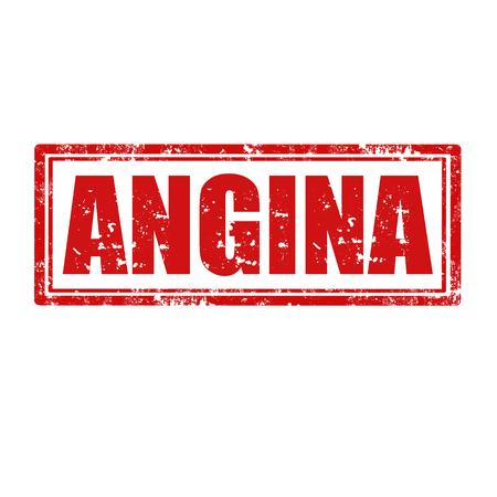 angina: Grunge rubber stamp with word Angina,vector illustration Illustration
