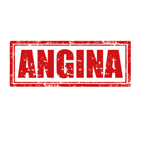 angina: Grunge sello de goma con la palabra Angina, ilustraci�n vectorial Vectores