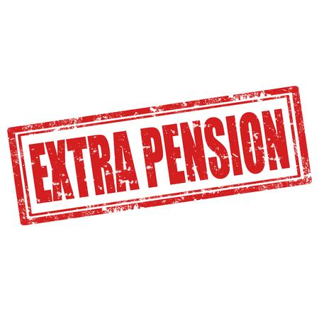 pensioen: Grunge rubber stempel met tekst Extra Pensioen, vectorillustratie Stock Illustratie