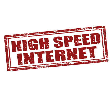 high speed internet: Grunge rubber stamp with text High Speed Internet,vector illustration