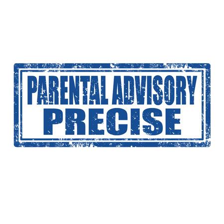 advisory: Grunge rubber stamp with text Parental Advisory,vector illustration Illustration