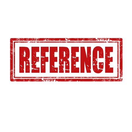 Grunge sello de goma con la palabra de referencia, ilustración vectorial