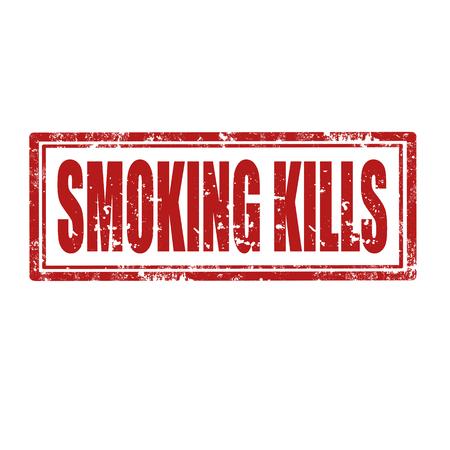 smoking kills: Grunge rubber stamp with text Smoking Kills,vector illustration