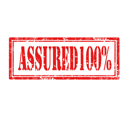 assured: Grunge rubber stamp with text Assured 100 ,vector illustration