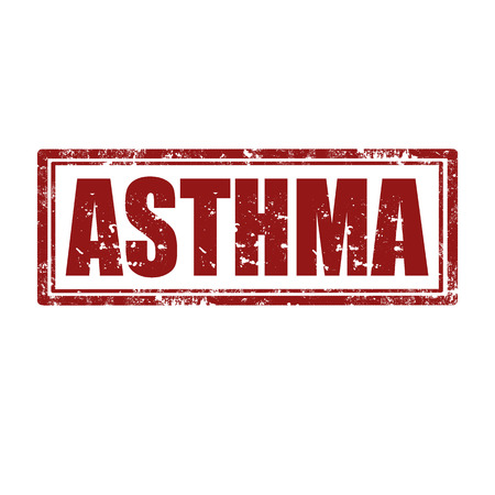 asthma: Grunge rubber stamp with word Asthma,vector illustration Illustration