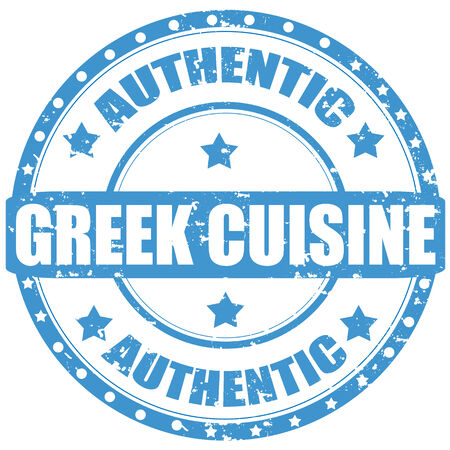 Grunge rubber stamp with text Greek Cuisine,vector illustration Vector