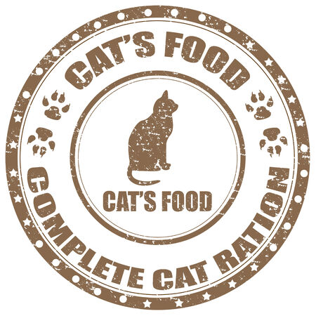 Grunge rubber stamp with text Cat's Food,vector illustration Vector