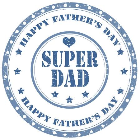 super dad: Grunge rubber stamp with text Super Dad,vector illustration Illustration