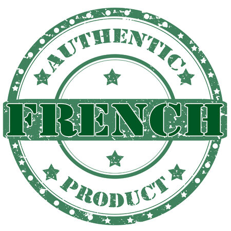 Grunge rubber stamp with text French-Authentic Product,vector illustration Vector