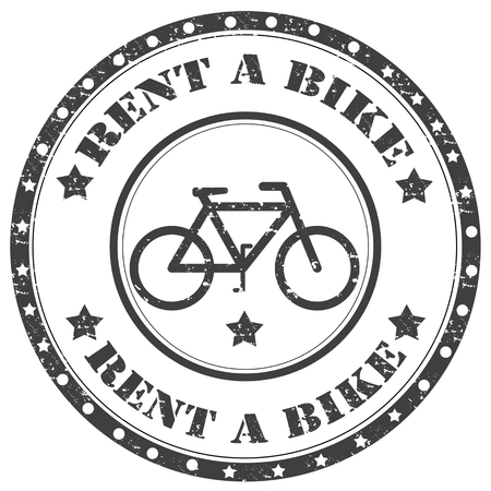 Grunge rubber stamp with text Rent A Bike,vector illustration Vector