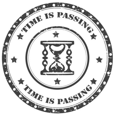 Grunge rubber stamp with text Time Is Passing,vector illustration Illustration