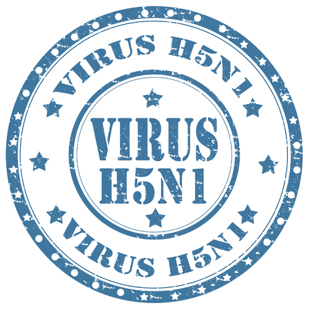 h5n1: Grunge rubber stamp with text Virus H5N1,vector illustration