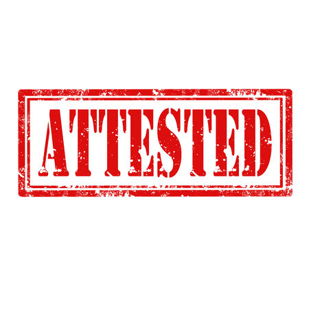 attested: Grunge rubber stamp with word Attested,vector illustration Illustration