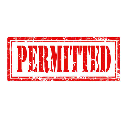 permitted: Grunge rubber stamp with word Permitted,vector illustration Illustration