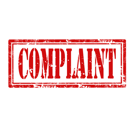 complaint: Grunge rubber stamp with word Complaint,vector illustration