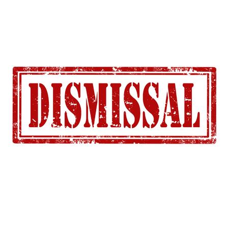 dismissal: Grunge rubber stamp with word Dismissal,vector illustration